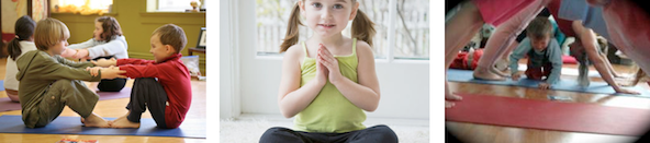 children in various yoga poses