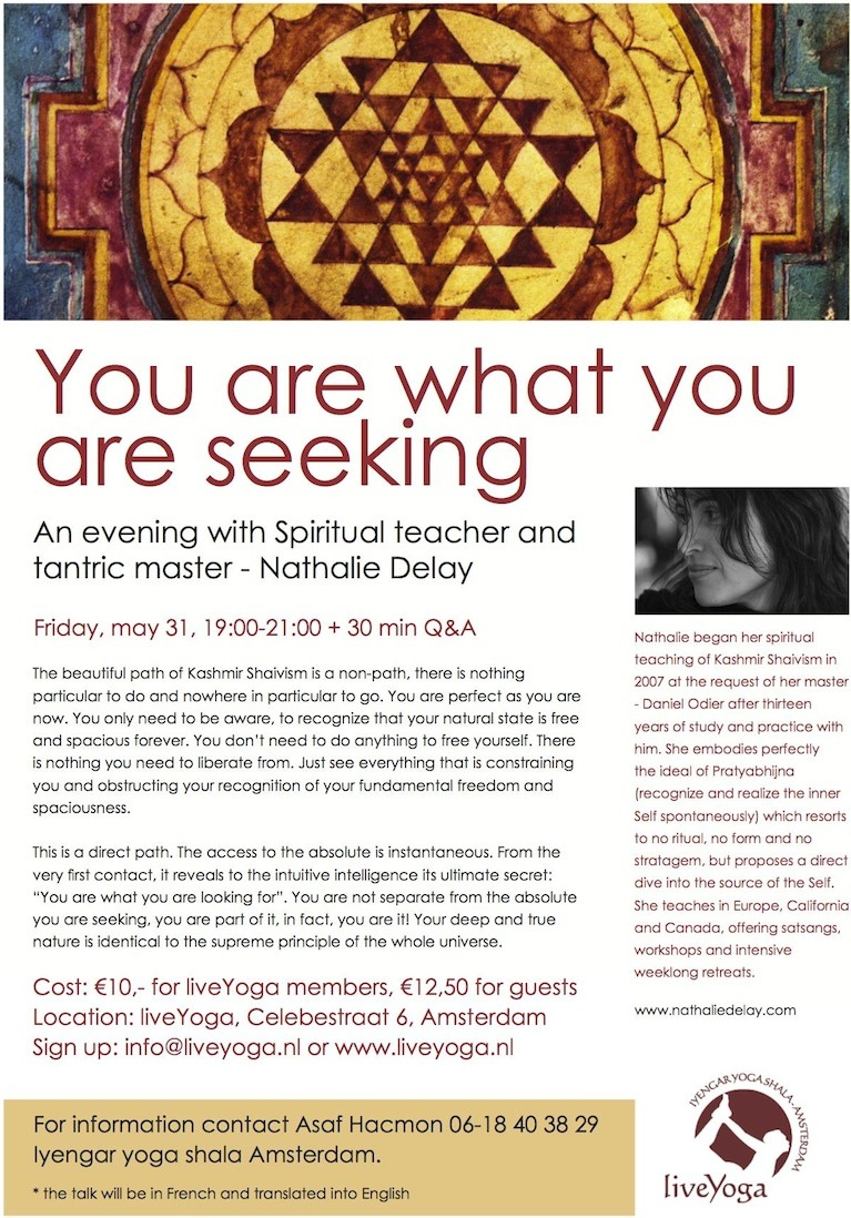 evening talk with spiritual teacher nathalie delay