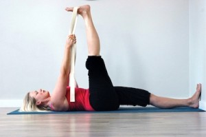 supta padagusta 1 can be done with props in the Iyengar yoga method