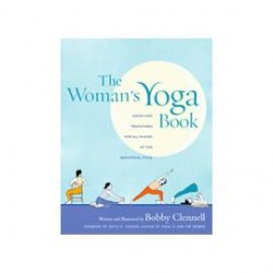 woman's yoga book