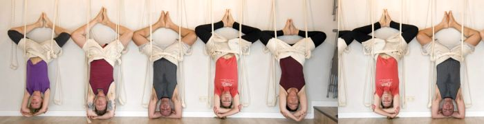 Yoga on  the ropes  workshop