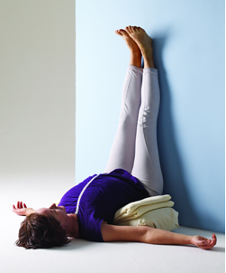 viparita karani – yoga for fatigue relief