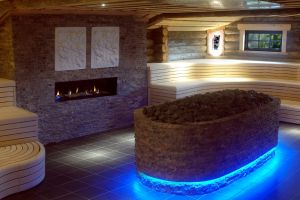 Luxury sauna interior