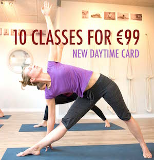 daytime card for yoga pilates amsterdam oost