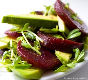salad with beetroot and avocado