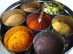 Ayurvedic spice box