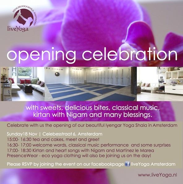 opening party yoga studio