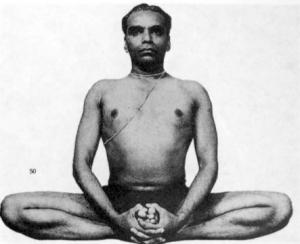 Baddha konasana upright variation BKS Iyengar