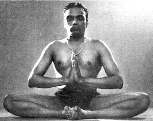 Atmanjali mudra in baddha konasana BKS Iyengar