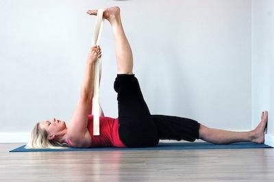 yoga pose focus supta padangustasana i  ii in iyengar yoga
