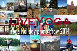 Yoga on holiday draw 2014 collage
